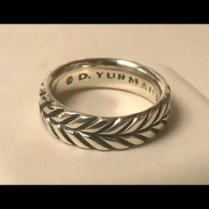 David Yurman Sterling Silver Chevron Band Ring